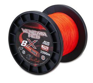 Saenger Uni Cat Vencata Red 8X Braid 0.60mm 57.0kg 1500m geflochtene Waller-Wels-Schnur Rot