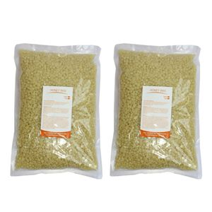 2Pcs Niedrigtemperatur Premium Wachsperlen für Enthaarung, Haarentfernung Ganz Körper, Bestandteil: Honig