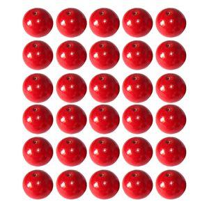 50 Stück Holzperlen , Größe 16mm Farbe rot
