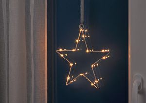 LED Silhouette Weihnachtsstern 16 warm/weiße LED 76506
