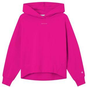 Calvin Klein Micro Branding Hoodie Kapuzenpullover Damen party pink L