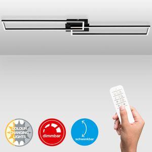 LED Deckenleuchte dimmbar Fernbedienung CCT Timer 40W schwarz Briloner Leuchten