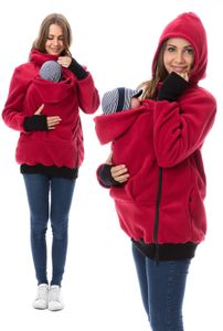 GFWL Tragejacke #Känguru Mama Baby Trage Jacke Allround Fleece GF2301XB in Rot, Größe Damen EU:40 Large