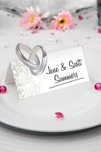 36 Stk. Tischkarten für Name Hochzeit Feier Party Deko Platzkarten