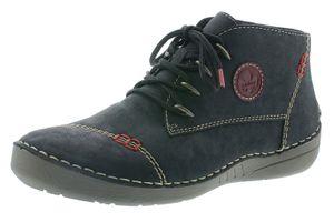Rieker Damen Stiefeletten Boots Warmfutter Schnürung 52502-00, Größe:38 EU, Farbe:Schwarz