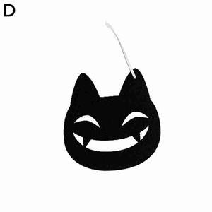 Schwarze Katze (D) $ Halloween Kürbis Geist Fledermaus schwarze Katze weiß Anhänger