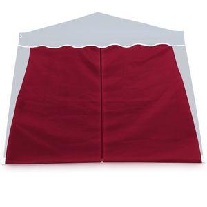 2x Seitenwände Seitenteile Pavillon Faltpavillon Capri Partyzelt Gartenzelt Zelt, Farbe:rot