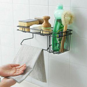 Spülbecken Organizer Wand Regal Duschregal Küchenutensilienhalter für Küche Bad