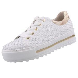 GABOR Comfort Damen Plateau Sneaker Weiß, Schuhgröße:EUR 42