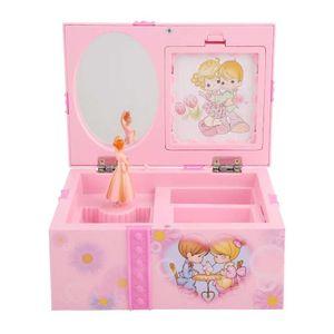 Mllaid Mädchen-Schmuckkästchen, Spieluhren für Mädchen, Mädchen-Schmuckkästchen rosa Cartoon-Spieluhr für kleine Prinzessin