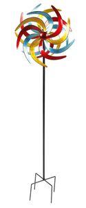 Doppel Windrad aus Metall - XXL - Größe: Ø 61 cm (4334)