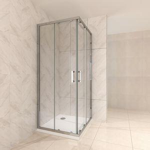 Duschkabine 90x90x180 cm aus durchsichtigem Sicherheitsglas DK77