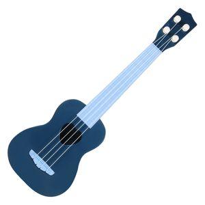 Simulierte Mini Kindergitarre Spielzeug Ukulele Klassische 4 Saiten Kinder Pädagogisch Einstellbare Töne Kunststoff Lernen Kinderspielzeug Farbe Tiefes Blau