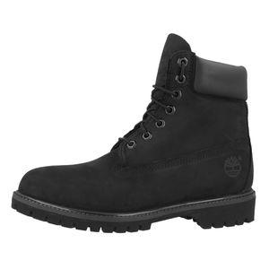Timberland Premium 6 Inch Herren Stiefel Schwarz Schuhe, Größe:43