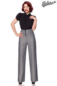Elegante Marlenehose, Farbe: Schwarz/Weiß, Größe: XL