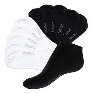 10 Paar SNEAK iT! Sneaker-Socken Schwarz / Weiss Mix (5 x Schwarz + 5 x Weiss)-35-38