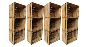 Holzkisten Obstkisten Weinkisten 12er Set 50 x 40 x 30cm: gereinigt und stabil