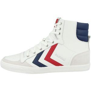 hummel Slimmer Stadil Duo High Leather Sneaker Erwachsene weiß / blau 45 EU - 10.5 UK - 11.5 US