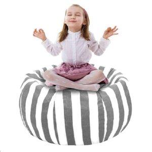 """2 in1 38"""" Stofftier Kuscheltiere Aufbewahrung Aufbewahrungstasche Sitzsack Kinder Soft Pouch Stoff Stuhl Durchmesser 96cm Umfang 300cm (Weiß)"""