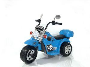 Kinder Elektro Polizei Motorrad Fahrzeug Kindermotorrad Akku Harley Motorrad Elektromotorrad , Farbe:Blau