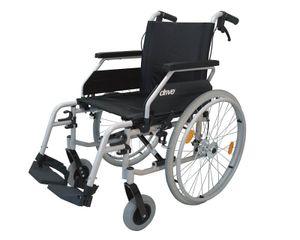 Standardrollstuhl Drive Medical Ecotec 2G, faltbar, bis 130 kg belastbar, Ausführung:ohne Trommelbremse, Sitzbreite:50 cm