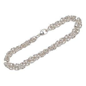 Armband 925 Sterling Silber 19cm Königskette rund Uni designer Armbandkette