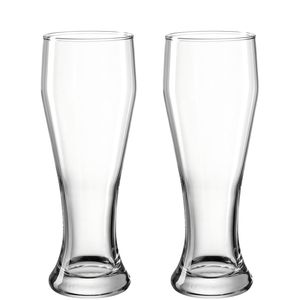LEONARDO Weizenbierglas, Bierglas, 500 ml, Transparent, Glas, 8 cm, 236 mm