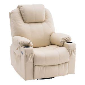 MCombo Elektrisch Relaxsessel Massagesessel 240° Dreh+ Schaukel + Vibration 7070CW