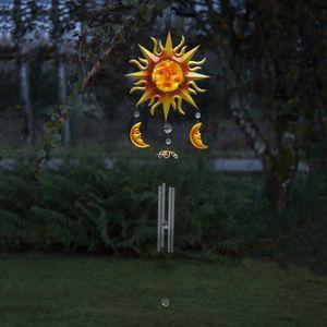 Star Trading LED Solar Windspiel Windy, Sonne und Mond