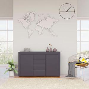 【Neu】Kommoden Sideboard Grau 120×36×69 cm BEST SELLER- Spanplatte Gesamtgröße:120 x 36 x 69 cm BEST SELLER-Möbel-Schränke-Sideboards im Landhaus-Stil