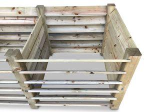 Erweiterung für stabilen Komposter aus Holz ca. 650 L
