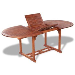 Ausziehbar Esstisch Gartentisch aus Akazienholz |(150-200) x 100 x 74 cm Farbe Holz-Naturfarben |Garten Terrassen Tisch Gartenmöbel | Holztisch Esszimmertisch