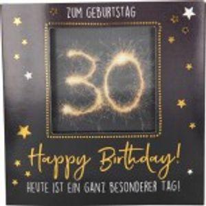 Geburtstagskarte Klappkarte 3D mit Musik & Licht Zum Geburtstag 30 Happy Birthday!