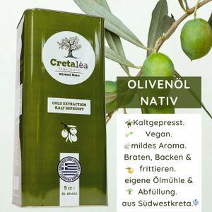 Olivenöl Virgin aus Kreta, Cretalea Olivenöl Nativ, neue Ernte 20/21, MHD: 09/2022, direkt aus Griechenland