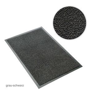 Metzker Schmutzfangmatte - Sauberlaufmatte grau-schwarz meliert 60 x 90 cm