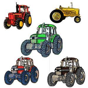 Traktor Set 5 Stück - Aufnäher, Bügelbild, Aufbügler, Applikationen, Patches, Flicken, zum aufbügeln