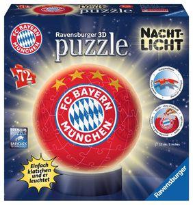 Ravensburger Nachtlicht FC Bayern München 3D Puzzle-Ball 72 Teile