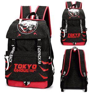 Anime Tokyo Ghoul Kaneki Rucksäcke Herren Damen Sport Freizeit Rucksack Wandern Arbeit Schulrucksack Laptop Tasche 31*15*43CM