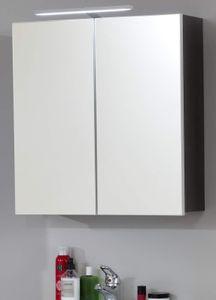 Badmöbel Spiegelschrank in grau Sardegna Rauchsilber Badschrank 60 x 67 cm 2-türig - Trendteam Badezimmer Line