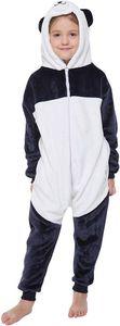 Corimori 1851 Mei der Panda Kinder Jungen Mädchen Onesie Jumpsuit Anzug Kostüm Verkleidung (Gr. 90-110 cm), Blau Weiß