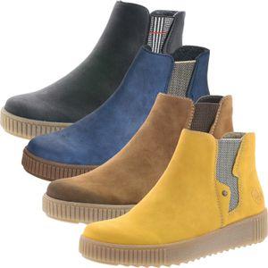 Rieker Y6461 Damen Stiefeletten Chelsea Boots Warmfutter, Größe:39 EU, Farbe:Braun