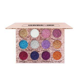 12 Farben Eyeshadows Palette Shimmers Makeup Lidschatten Palette, Wasserdichte Augen Schatten