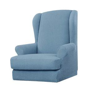 Sessel-Überwürfe Sesselhusse Sesselbezug Ohrensessel Überzug Bezug elastisch Sofabezug Sofaschonbezug Hellblau Modern Schonbezug Einfarbig wie beschrieben