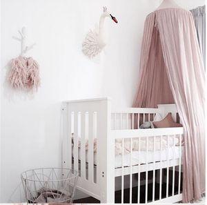 Baumwolle Baldachin Betthimmel Baby Prinzessin Bett Kinderbett Moskitonetz Zelt Tüll Raumdekoration Rosa