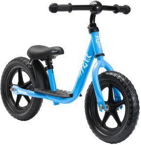LÖWENRAD Kinder Laufrad ab 3 - 4 Jahre | 12 Zoll Lauflernrad mit Trittbrett | Blau