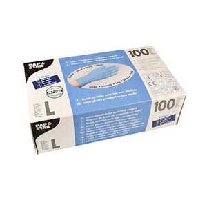 100 Handschuhe, Latex puderfrei blau Größe L