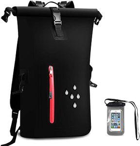 Wasserdichter Dry Bags Rucksack, 25L Heavy Duty Roll-Top-Verschluss Reiserucksack mit Waterproof Handy-Hülle für Kanufahren, Kajak, Rafting, Skifahren, Angeln, Camping, Strand