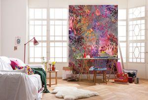 """Komar Fototapete """"Wild Garden"""", bunt, Collagetapete aus Blumen, 184 x 254 cm"""