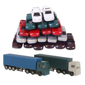 52Pcs 1: 150 Scale Container LKW Güterwagen Modell Spielzeug Kinder Weihnachtsgeschenke