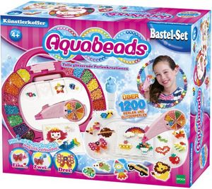 Aquabeads Epoch 79328 - Perlen- und Künstlerkoffer, tolle glänzende Perlen für kreativen Bastelspaß, ab 4 Jahre
